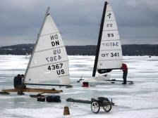 Ice boats on Torch