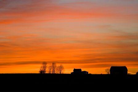 Sunset over Essex Road