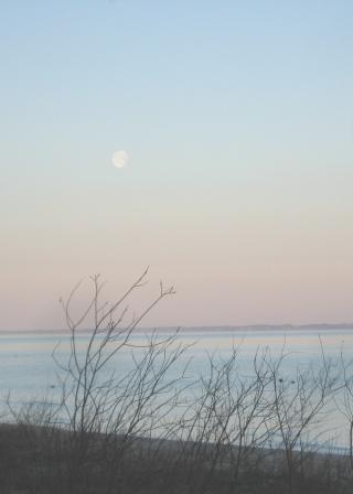 Easter morning moonset