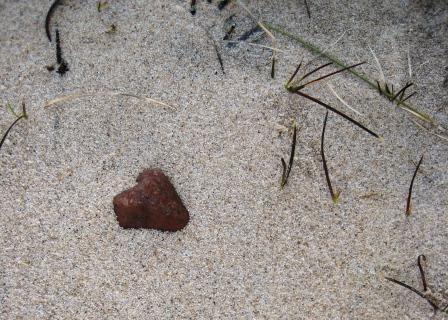 Heart-shaped stone