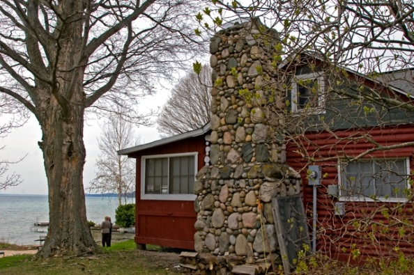 Maude Harris's log cabin on Torch Lake as it looks in 2009