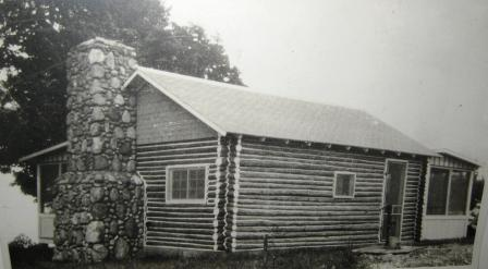 Maude Harris's log cabin in 1924