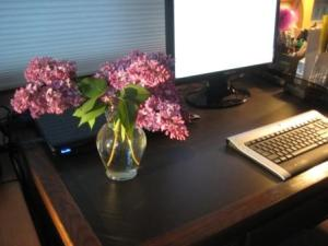 Lilacs on the desk