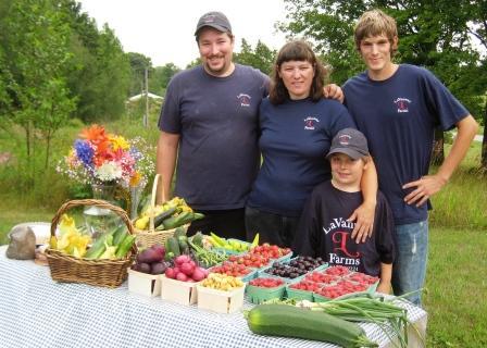 LaVanway Farms - Family portrait at the market table