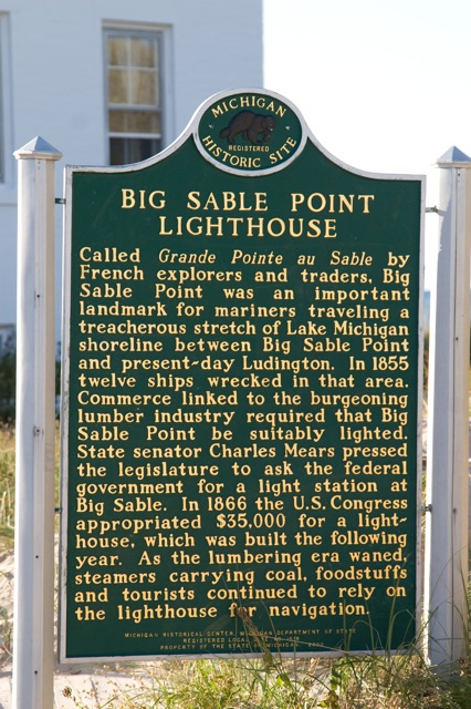 Big Sable historic site marker
