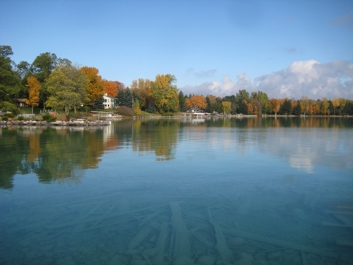 Torch Lake shore in October