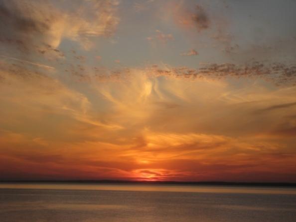 Shameless gaudy sunset