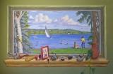 Window on Torch Lake, a mural by Dennis Orlowski