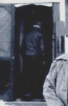Grampa going in the door
