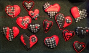 Polymer Clay Hearts by Babs