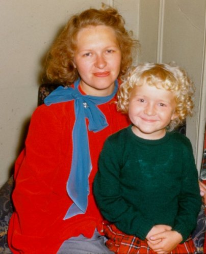 Mom and my little self a long, long time ago