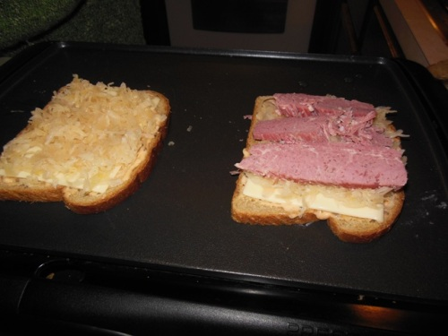 Assembling a proper Reuben Sandwich