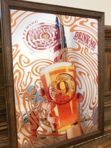 Raffle prizes - Magic Hat bar mirror