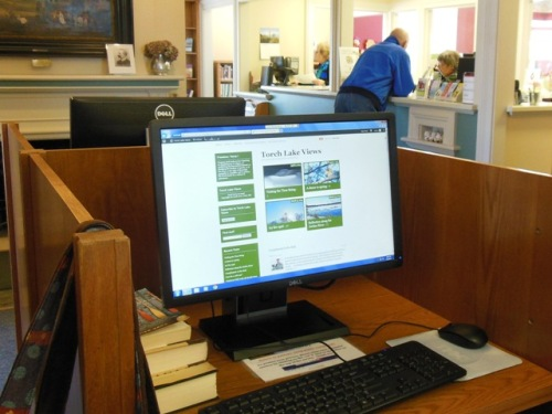 Elk Rapids Library - excellent broadband