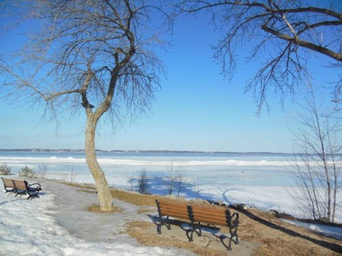 Elk Rapids - View of the Bay and Old Mission Peninsula