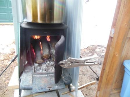 Vintage woodstove