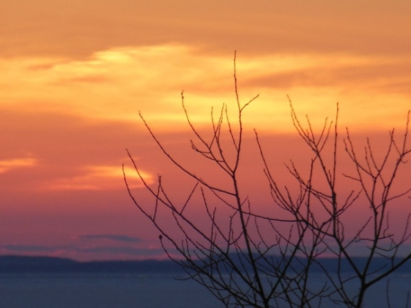 Sunset on Grand Traverse Bay 4-18-2014