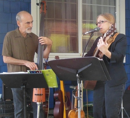 Glenn Wolff and Robin Lee Berry at the Garden Cafe
