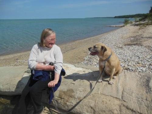 Gerry and Miss Sadie at the Torch Bay Nature Preserve