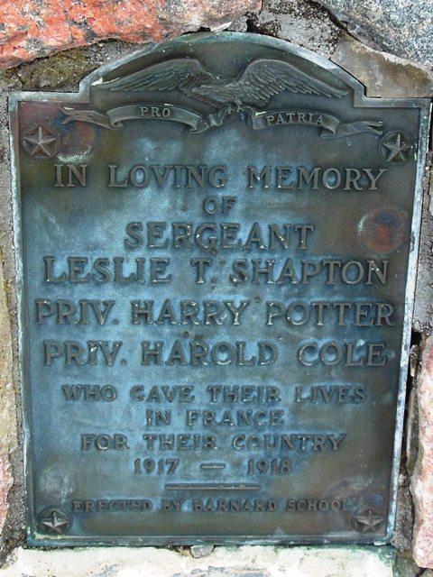 Barnard Grange flagpole memorial