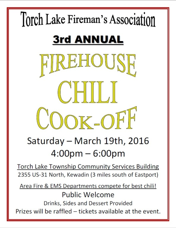 Firehouse Chili Cook-off flyer