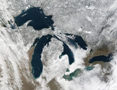 Great Lakes from the Terra satellite