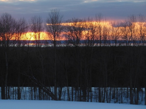 Sunset over Grand Traverse Bay - from the second ridge