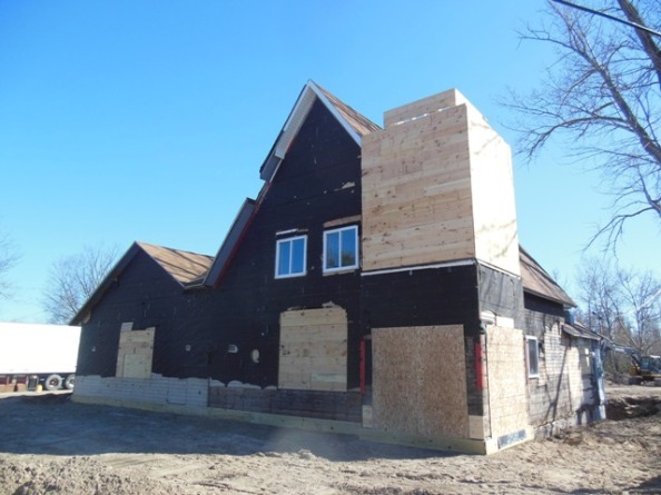 Update on Renovations - a new steeple for the Torch Lake Cafe