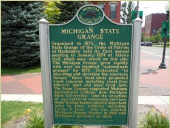 Michigan State Grange historical marker